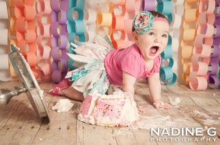 North Atlanta Smash Cake Photographer; Nadine G Photography