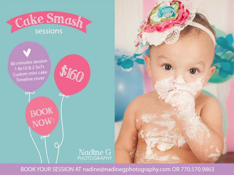 North Atlanta Smash Cake photographer, 1st year birthday photos, child and baby photographer
