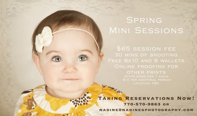 Buford, Suwanee, Duluth, Lilburn GA Spring Mini sessions