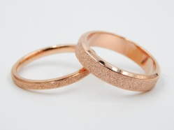 Shimmer rose gold ring from North Georgia Jewelry