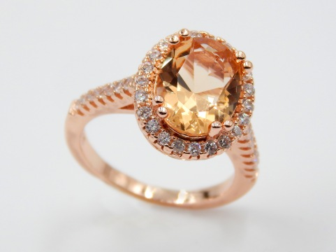 Morganite and rose gold ring from North Georgia Jewelry